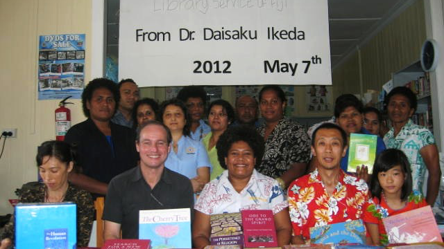 SGI Book donations in Fiji